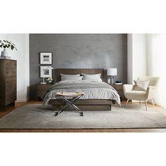 Hudson Wood Storage Bed - Modern Beds & Platform Beds - Modern Bedroom Furniture - Room & Board