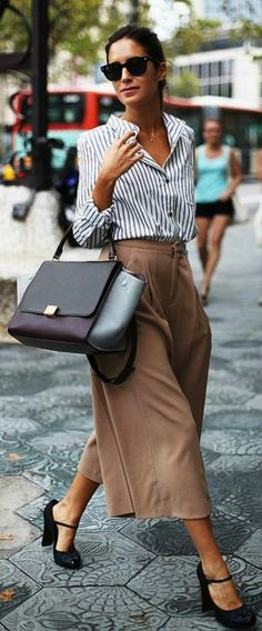 <3 CULOTTES: OFFICE ATTIRE <3  45 Casual Summer Work Outfits To Wear To Office