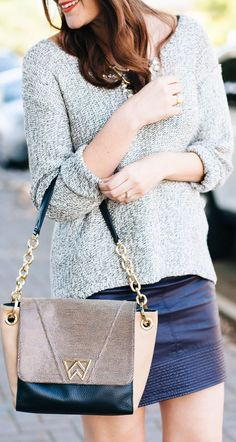 Kendi Everyday -- In-Between featuring Kelly Wynne Teen Fashion, Fashion Tips, Fashion Trends, Fashion Styles, Fall Looks, Everyday Fashion, Dress Skirt, Knitwear, Autumn Fashion