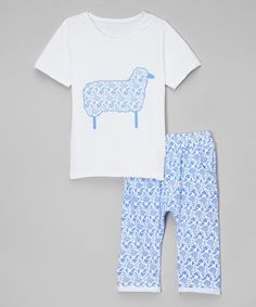 Love this Blue Floral Sheep Tee & Pants - Infant, Toddler & Girls by Leighton Alexander on #zulily! #zulilyfinds