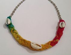 Tie Dye Shell Necklace by BeachyKeenStyle on Etsy, $17.50