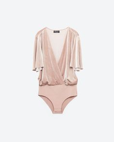 FOR STYLE INSPIRATION || SPECIAL EDITION VELVET BODYSUIT from Zara || NOVELA BRIDE...where the modern romantics play & plan the most stylish weddings...www.novelabride.com @novelabride #jointheclique