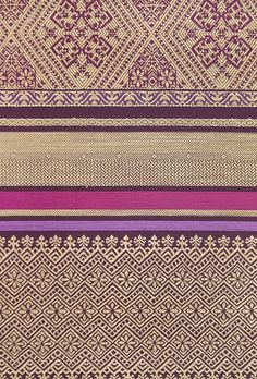 Bali Fabric Traditional Balinese inspired embroidered cotton fabric with small, eclectic design in Purple, Pink and Taupe. Suitable for Curtains and General Domestic Upholstery.