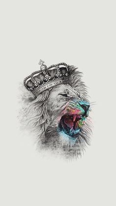 The lion's majesty is something we can all acknowledge. The king of the jungle and leader of the pride, the lion symbolises power, strength, prowess – all a Bild Tattoos, Neue Tattoos, Tattoo Drawings, Body Art Tattoos, Art Drawings, Trendy Tattoos, Cool Tattoos, Image Swag, Lion Wallpaper