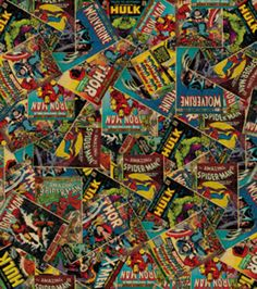 Licensed Cotton Fabric-Marvel Retro Comic, , hi-res - Someday i need to make dresses out of this.