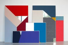 Acoustic panels by StokkeAustad for Gudbrandsdalen Uldvarefabrikk store design acoustic panel