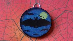 Bats in the Night Magnet or Wall Hanging Art by VipersDen  #Halloween #Art #Horror #Bats #Midnight #Spooky #Gifts #Decorations