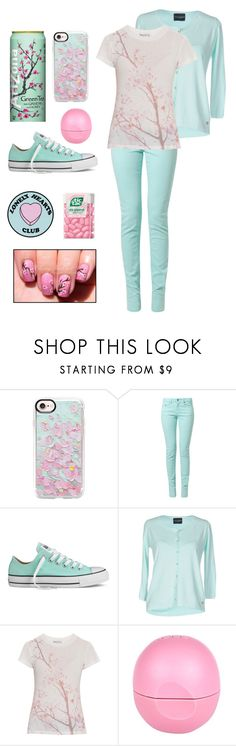 A fashion look from April 2017 featuring wildfox t shirts, rayon cardigan and slim leg jeans. Browse and shop related looks. Arizona Tea, Wildfox, Casetify, River Island, Converse, Shoe Bag, Polyvore, Shoes, Collection