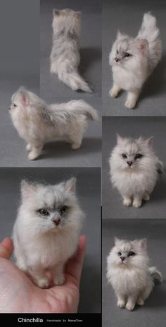 needle felted cat