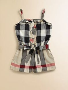 f089979d276c burberry baby romper !  I want it for ME!  babyrompers Toddler Fashion