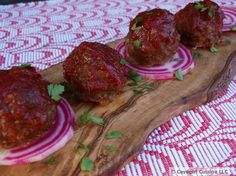 BBQ Roo Meatballs...hopefully these work with another meat since kangaroo is scarce in sc