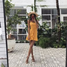 Swans Style is the top online fashion store for women. Shop sexy club dresses, jeans, shoes, bodysuits, skirts and more. Sundress Outfit, Boho Sundress, Short Sundress, Yellow Sundress, Summer Outfits, Cute Outfits, Summer Dresses, Cute Dresses, Short Dresses