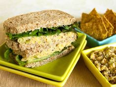 Chickpea Salad Sandwich Spread Recipe  Gluten Free Vegan Sandwich Spread, Appetizer or Snack  Enjoy yummy gluten free vegan chickpea salad in vegetarian sandwich recipes or as an easy appetizer or snack, with or without chips or crackers.  Or serve it as a side dish with steamed veggies and rice for a super fast meal. Or eat this satisfying spread straight out of the container!  Total prep time: 20 Minutes  8 Servings        Nutrition Data Per Serving, 56g: 84 cal, 13g carbs, 2g fat, 69mg…