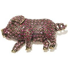 "Heidi Daus ""This Little Piggie"" Crystal Pin"