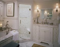 Natural Grey Stone Bathroom Ideas Granite Gurus Whiteout Wednesday 5 White Baths With Carrara Marble Bathroom Pinterest Marbles Marble