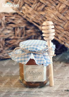 www.kamalion.com.mx - Recuerdos / Giveaways / Favors / Detalles Personalizados / Vintage / Bautizo / It's a boy / Azul / Blue / Miel de abeja / Honey jar / Frascos.