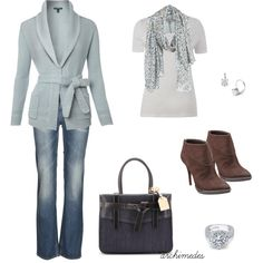 A fashion look from February 2012 featuring Lauren Ralph Lauren cardigans, School Rag jeans and Victoria Beckham jeans. Browse and shop related looks.
