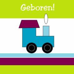 Geboortekaart trein - Geboortekaartjes - Kaartje2go