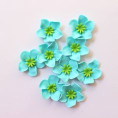 fondant flowers 36 Hawaiian tropical turquoise lime green edible fondant flowers cupcake cake toppers rose decorations tropical sweet by InscribingLives (15.99 USD) http://ift.tt/1LyX0z6