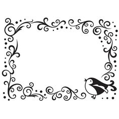Darice - Embossing Folder Bird Scroll Frame