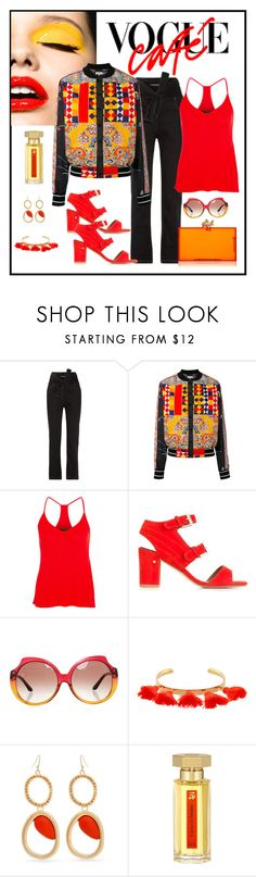 """Pierre-Louis Mascia Diomepape Bomber Jacket Look"" by romaboots-1 ❤ liked on Polyvore featuring Y/Project, Pierre-Louis Mascia, Enza Costa, Laurence Dacade, Marc by Marc Jacobs, Marte Frisnes, Curvy Chic and L'Artisan Parfumeur"
