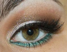Shimmery with a touch of green.