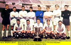 Real Madrid team group in Real Madrid History, Real Madrid Team, Santiago Bernabeu, Dolores Park, Soccer, Collection, Reyes, Grande, 1960s