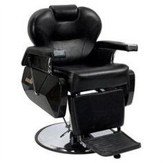 Classic Black Reclining Barber Chair