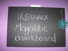 Materials: SPONTAN Magnetic board, sandpaper, chalkboard paintDescription: I am bad at reading the fine print. Let's just start there. I saw the smooth SPONTAN
