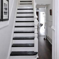Black on white staircase