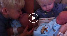 Menino Tem Reação Incrível Ao Ver Irmão Recém-Nascido Pela Primeira Vez
