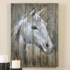 Majestic Horse Wood Panel Wall Hanging - OVERSTOCK