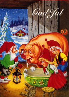 Jaanas Gut o Mixed - Christmas Greeting Cards, Christmas Greetings, Merry Christmas, Love Cards, Thank You Cards, Christmas And New Year, Christmas Crafts, Norwegian Christmas, New Year Postcard