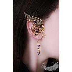 Jewelry OFF! Angel of the Past steampunk jewelry gold by EvgeniaEJewellery Ear Jewelry, Cute Jewelry, Body Jewelry, Jewelery, Jewelry Accessories, Fashion Accessories, Fashion Jewelry, Jewelry Design, Skull Jewelry