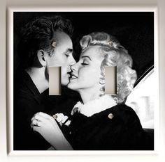 James Dean and Marilyn Monroe Black and by christinafajardoart, $9.00