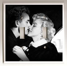 James Dean and Marilyn Monroe Black and by christinafajardoart, $9.00