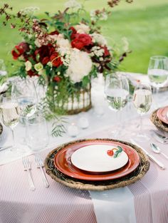 Cherry on Place Setting | photography by http://www.defiorephotography.com/