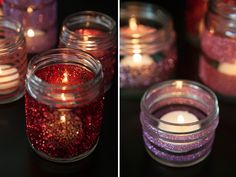 Check out this tutorial on how to make DIY glittered glass jars that are perfect for candle holders.. with Martha Stewart Crafts #12monthsofmartha