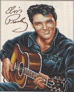 ELVIS PRESLEY COUNTED CROSS STITCH KIT