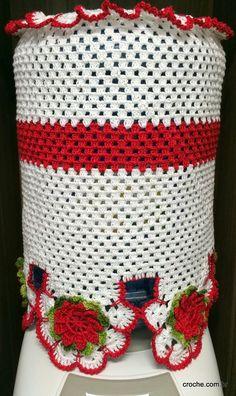 Jogo de tapetes e capa para garrafão | Croche.com.br
