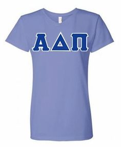 Alpha Delta Pi Lettered V-Neck Tee