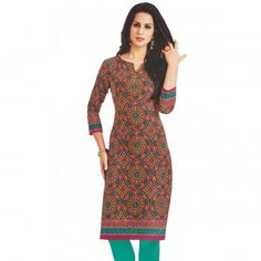 Cotton Kurtis Online - Buy Cotton Kurti for women @ upto Off from Latest Collection - IndiaRush Cotton Kurtis Online, Girls Kurti, Ethnic Kurti, Absolutely Gorgeous, Latest Fashion, Indian, Printed, Spring, Stuff To Buy