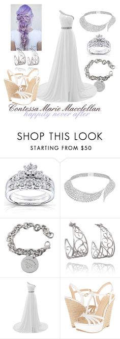 """Tessa - Wedding Day"" by queengryff ❤ liked on Polyvore featuring Kobelli, Messika, Tiffany & Co. and Jessica Simpson"