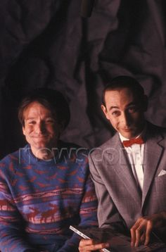 Robin Williams, Paul Reubens 1986, Photo Credit: Wayne Williams/Shooting Star/Sipa USA