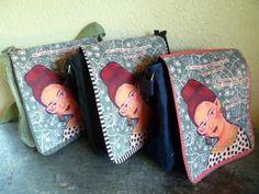 Schultertasche / Taschenkunst von mARTina haussmann auf DaWanda.com
