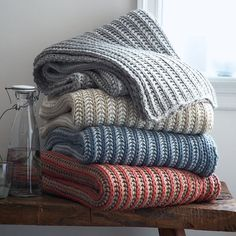 If a chunky knit sweater is your idea of comfort, wrap yourself up in this throw.