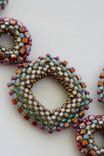 A Work in Progress: beading.  Great colours Beadwork June 2012  Jill Devon
