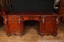 Photo of Chippendale Mahogany Partners Desk Nostell Priory Desks . Resolute Desk, Antique Desk, Antique Furniture, Home Office Design, House Design, Carlton House, Partners Desk, Art Deco Desk, English Interior