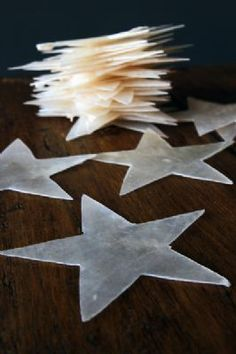 || Mother of Pearl Star Decorations