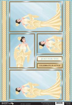 Buzzcraft Art Deco die cut toppers - Elegance